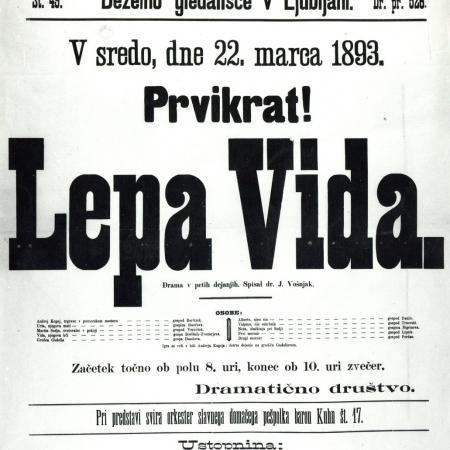 Lepa Vida, letak 1891