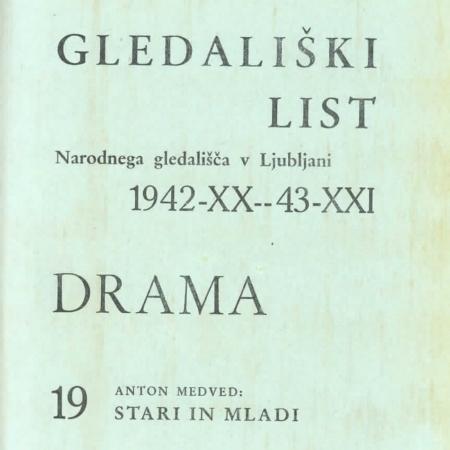 Stari in mladi, gledališki list