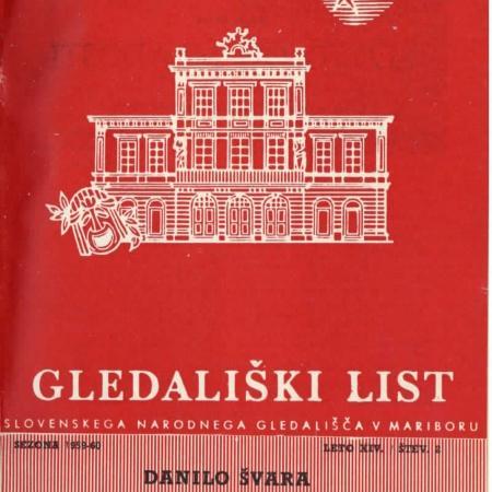 Slovo od mladosti: gledališki list (SNG Maribor, 1959)