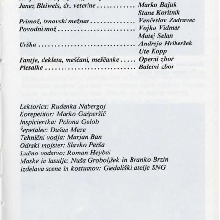 Slovo od mladosti: opera (SNG Opera in balet Ljubljana, 1988)