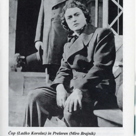 Prizori krstne uprizoritve Švarove opere Slovo od mladosti (1953/54)