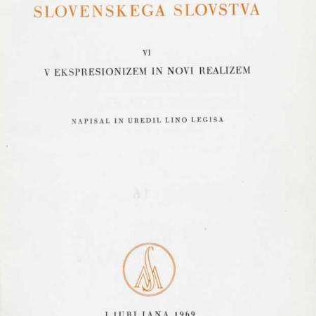Lino Legiša: Zgodovina slovenskega slovstva VI (1969)