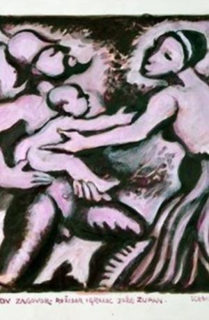 Josip Primožič-Tošo: Platon, Sokratov zagovor, rež. Jože Zupan, Drama SNG Maribor.Vir: Ikonoteka SLOGI – Gledališki muzej.