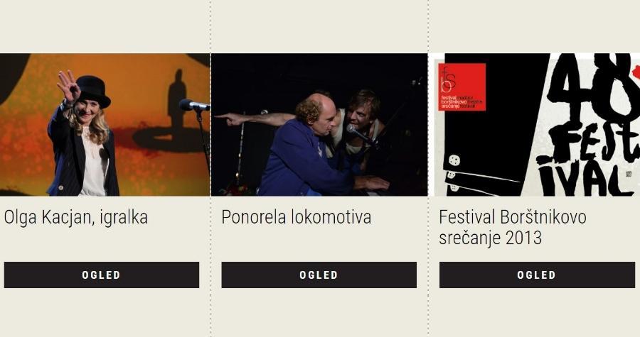 Letos smo pripravili dve e-razstavi, Festival Borštnikov srečanje 2011 in 2013. V okviru drugi se posvečamo predstavi Ponoreli lokomotivi.