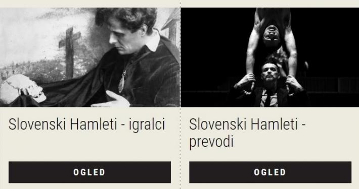 Razstava Slovenski Hamleti predstavlja triindvajset slovenskih Hamletov, ki so Shakespearovega kraljeviča Danskega interpretirali v dvaindvajsetih slovenskih uprizoritvah.