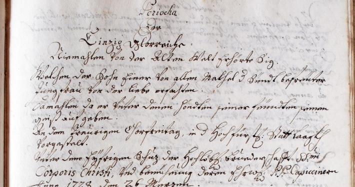 In Škofja Loka je na Veliki petek 1721 uprizorila najstarejše slovensko v celoti ohranjeno dramsko besedilo Škofjeloški pasijon.