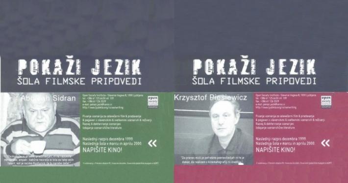 Pokaži jezik v organizaciji Zavoda za odprto družbo je v dvorani Slovenskega gledališkega muzeja organizirala niz srečanj s filmskimi ustvarjalci.