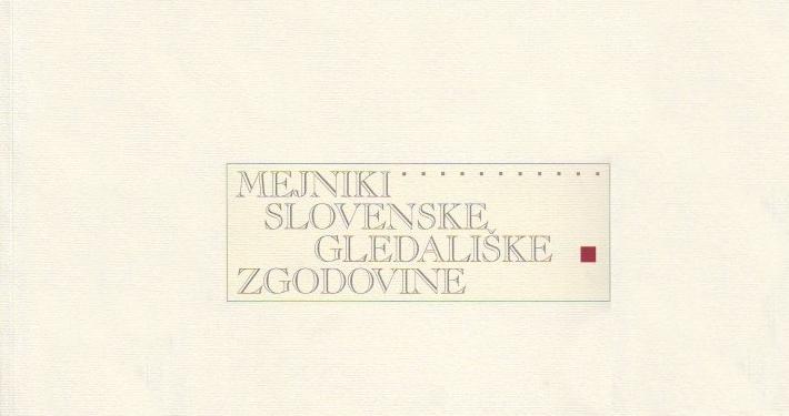 Razstava avtorja mag. Štefana Vevarja, vodje arhiva SGM prikazuje povedno gradivo, ki priča o bogati teatrski tradiciji na Slovenskem.
