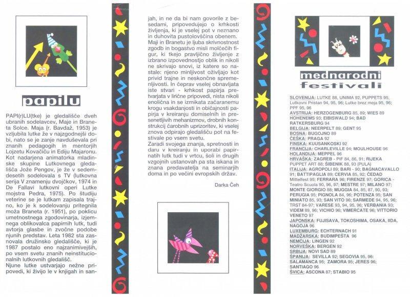 Razstava ob 15. obletnici lutkovnega gledališča PAPI(r)LU(tke).