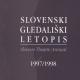 Slovenski gledališki letopis 1997/1998 so v pogovornih dialogih predstavili urednik Štefan Vevar in specialisti za posamezne gledališke zvrsti ter pisci.