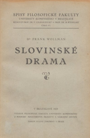 Frank Wollman: Slovinské drama, 1925