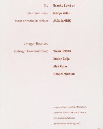 Butalci: gledališki list (1998/99)