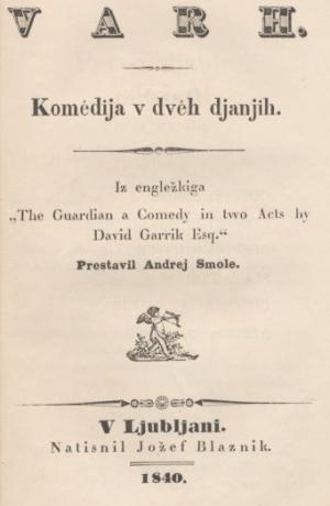 David Garrick: Varh, 1840