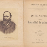 Josip Vošnjak: Zbrani dramatični in pripovedni spisi, 1868
