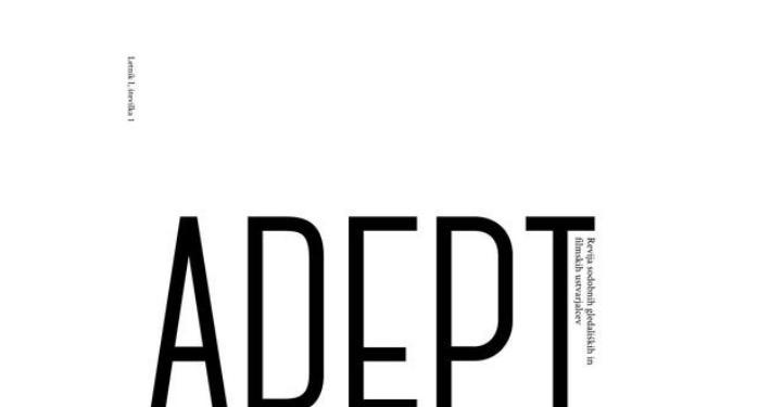 Prva številka nove revije ADEPT