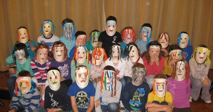 Gledališke maske na Čarobnem dnevu