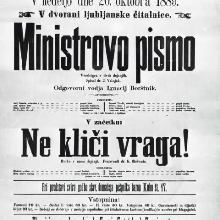 Ministrovo pismo, letak (1889)