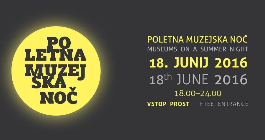 Tudi letos se pridružujemo akciji Poletne muzejske noči