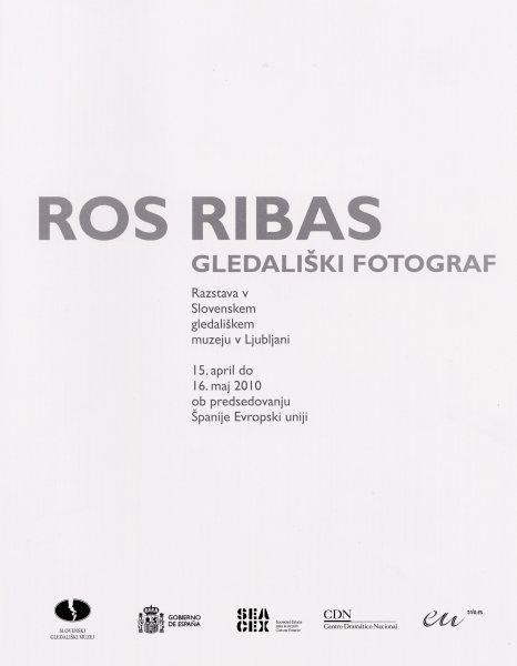 V Slovenskem gledališkem muzeju so odprli razstavo španskega fotografa Rosa Ribasa, ki je svojo kariero posvetil predvsem fotografiranju gledališča.