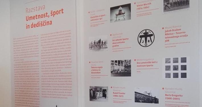 V okviru nacionalnega posveta Umetnost, šport in dediščina smo odprli panojsko razstavo, na kateri svoje športne zbirke in umetniške zbirke, ki se navezujejo na tematiko športa