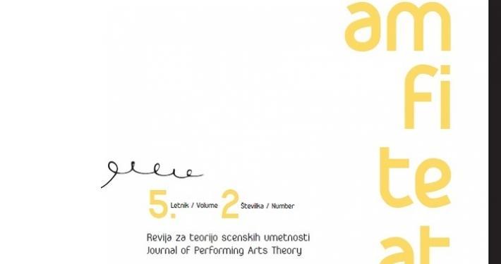 Amfiteater, predstavitev nove številke Revije za teorijo scenskih umetnosti