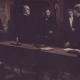 Ivan Cankar: Hlapci. Od leve proti desni: Vida Juvanova (Minka), Milan Skrbinšek (Župnik), Edvard Gregorin (Nadučitelj), Mira Danilova (Geni), Stane Sever (Jerman). Vir: Ikonoteka SLOGI – Gledališki muzej.
