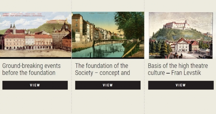 Virtual exhibition upon the 150th anniversary of the foundation of the Drama Society in Ljubljana