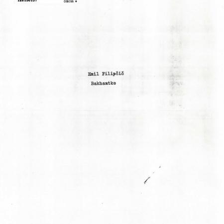 Neobjavljeno in neuprizorjeno avtorjevo besedilo BAKHANTKE