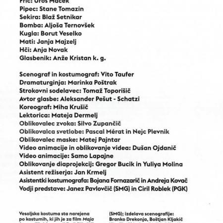 Butnskala, gledališki list (zasedba)