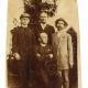 Izidor Cankar, actor Anton Verovšek and Ivan Cankar paying visit to the writer Fran Saleški Finžgar (sitting in the photo) in Sora near Medvode on 11 July, 1911.