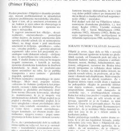 Maska - Simona Kardum: Patologija sodobne slovenske dramatike (III. 1988-89)