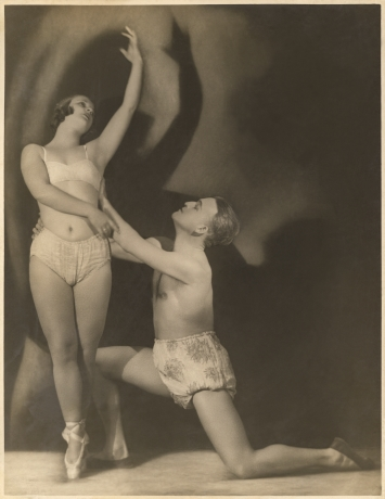 Gizela Bravničar and Peter Golovin, No-dated photography, donation by Henrik Neubauer. Source: Iconotheque SLOGI - Theatre Museum.