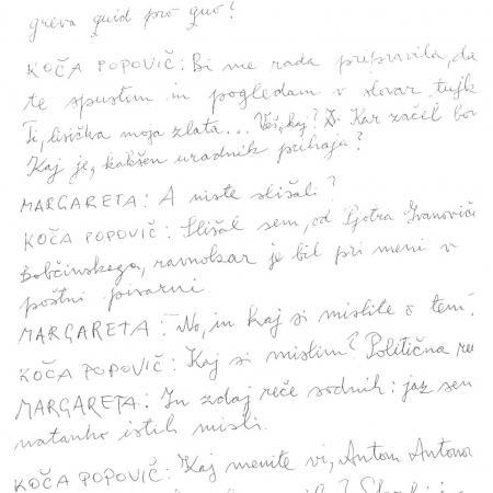 Kopija rokopisa zadnjega, petega dejanja igre Suženj akcije (1997)