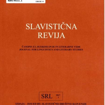 Slavistična revija, 65. 2017, št. 1