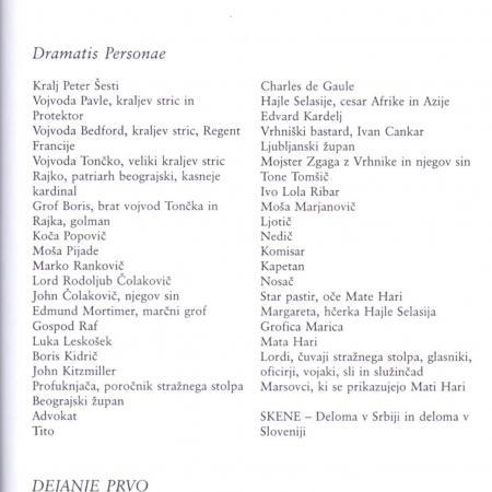 Revija Dialogi: prva tri dejanja drame Suženj akcije (36. 1998, št. 11-12, str. 79-110).