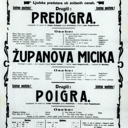 Letak Županovova Micika iz leta 1906