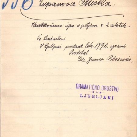 Rokopis Županova Micka