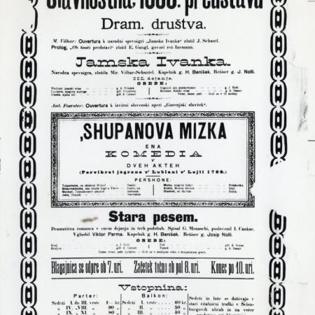 Letak Županovova Micika iz leta 1900