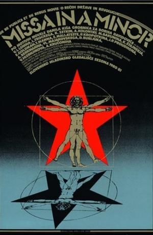 Matjaž Vipotnik, plakat za predstavo Missa in a Minor. Vir: Ikonoteka SLOGI – Gledališki muzej.