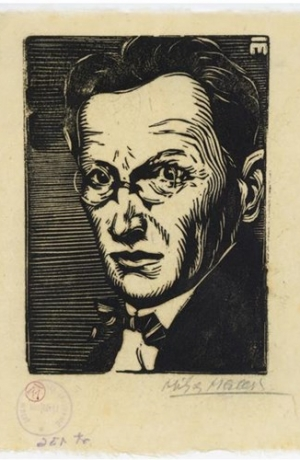 Portrait of Oton Župančič, author Miho Maleš. Source: SLOGI Iconotheque - The Theater Museum.