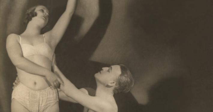 Gizela Bravničar in Peter Golovin, nedatirana fotografija, dar Henrika Neubauerja. Izsek. Vir: Ikonoteka SLOGI – Gledališki muzej
