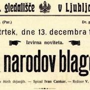 Ivan Cankar: Za narodov blagor, 1906, izsek iz plakata