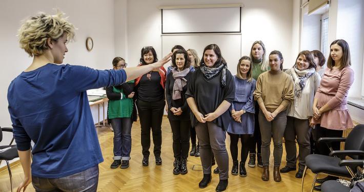 Delavnica Tjaše Črnigoj. Foto: David Verlič/SNG Nova Gorica