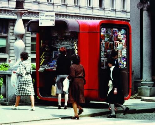 Saša J. Mächtig, Kiosk K67, modularni arhitekturni sistem, 1967. Muzej za arhitekturo in oblikovanje.