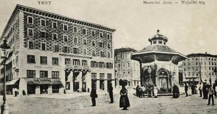 Narodni dom v Trstu pred julijem 1920. Vir: Ikonoteka SLOGI – Gledališki muzej.
