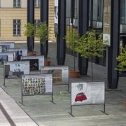 Naprej v preteklost, skupna panojska razstava državnih muzejev. Foto: Blaž Verbič, SEM, 2020.