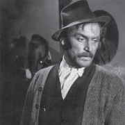 Bert Sotlar as Uncle France in the movie Moments of Decision directed by František Čap (1955). Photo: Lado Sazonov. Source: Iconotheque SLOGI – Theatre Museum.