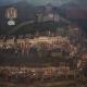 Boris Kobe: Škofjeloški pasijon, olje na lesu, 181 x 208 cm. Naslikano po naročilu Slovenskega gledališkega muzeja leta 1967. Vir: Ikonoteka SLOGI – Gledališki muzej.